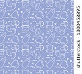seamless pattern with goods for ... | Shutterstock .eps vector #1300458895