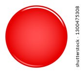red empty circle button. glossy ...