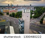 riga   june  20  aerial view of ... | Shutterstock . vector #1300480222