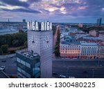riga   june  20  aerial view of ... | Shutterstock . vector #1300480225