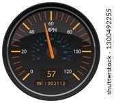 mph miles per hour speedometer... | Shutterstock .eps vector #1300492255