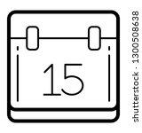 calendar icon denoting reminder  | Shutterstock .eps vector #1300508638