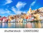 procida  italy   island in the... | Shutterstock . vector #130051082