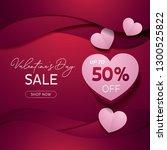 valentines day banner template  ... | Shutterstock .eps vector #1300525822