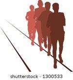 runners | Shutterstock .eps vector #1300533