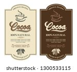 collection of labels with cocoa ...   Shutterstock .eps vector #1300533115