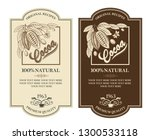 collection of labels with cocoa ...   Shutterstock .eps vector #1300533118