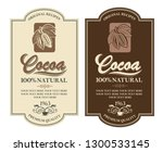 collection of labels with cocoa ...   Shutterstock .eps vector #1300533145