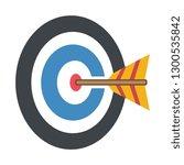direct hit darts target   Shutterstock .eps vector #1300535842