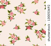 vintage seamless floral pattern ... | Shutterstock .eps vector #130053692