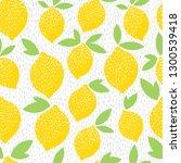 lemons. vector seamless pattern.   Shutterstock .eps vector #1300539418