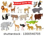 Stock vector stock vector set of animals cartoon graphic illustration 1300540705