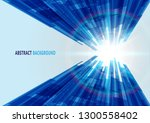 blue square abstract background ... | Shutterstock .eps vector #1300558402