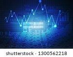 2d rendering stock market... | Shutterstock . vector #1300562218