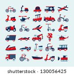 retro transport icons set | Shutterstock .eps vector #130056425