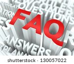 faq concept. the word of red... | Shutterstock . vector #130057022
