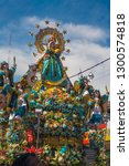 Small photo of Image of the Virgin of La Candelaria is paraded through the streets for her veneration. February 10, 2010, Puno - Peru