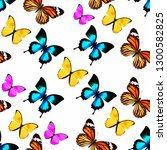 seamless pattern of colored... | Shutterstock . vector #1300582825