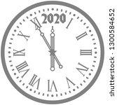 christmas 2020 new year grey... | Shutterstock .eps vector #1300584652