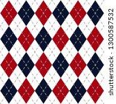 argyle check pattern image. | Shutterstock .eps vector #1300587532