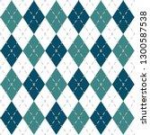 argyle check pattern image. | Shutterstock .eps vector #1300587538