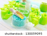 sea salt and soap | Shutterstock . vector #130059095