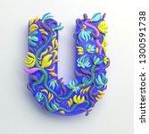 3d rendering of plasticine font.... | Shutterstock . vector #1300591738