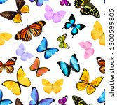 seamless pattern of colored... | Shutterstock . vector #1300599805