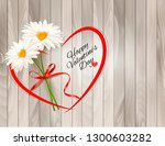 valentine's day background two... | Shutterstock .eps vector #1300603282