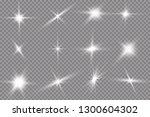 white glowing light explodes on ...   Shutterstock .eps vector #1300604302
