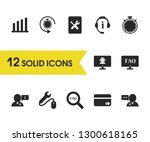 service icons set with credit...