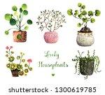 watercolor illustration  lovely ... | Shutterstock . vector #1300619785