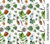 watercolor illustration  lovely ... | Shutterstock . vector #1300619788