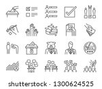 election line icon set.... | Shutterstock .eps vector #1300624525
