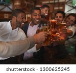 group of male friends on night... | Shutterstock . vector #1300625245