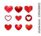 vector heart illustration...   Shutterstock .eps vector #1300638802