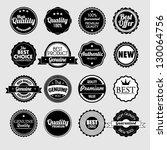 set of vector stickers | Shutterstock .eps vector #130064756