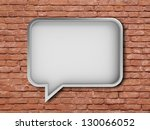 bubble talk on a white... | Shutterstock . vector #130066052