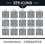 black set vector icons of... | Shutterstock .eps vector #1300663918