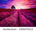 original oil painting on canvas.... | Shutterstock . vector #1300670212