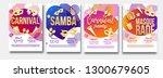carnival brochure set place for ... | Shutterstock .eps vector #1300679605