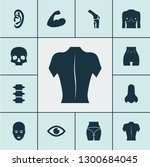 part icons set with face  joint ... | Shutterstock .eps vector #1300684045