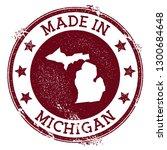 made in michigan stamp. grunge... | Shutterstock .eps vector #1300684648