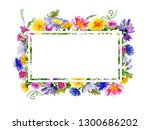 frame with hand drawn... | Shutterstock . vector #1300686202