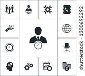 vector set of business icons.... | Shutterstock .eps vector #1300692292
