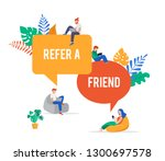 refer a friend illustration....