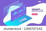 isometric concept of smart data ... | Shutterstock .eps vector #1300707142