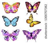 beautiful pink butterfly... | Shutterstock . vector #1300707382