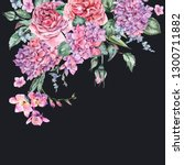 summer watercolor vintage... | Shutterstock . vector #1300711882