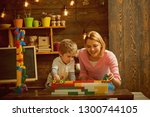 enjoy concept. mother and child ... | Shutterstock . vector #1300744105